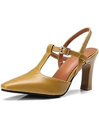 80f6275c6e2 OALEEN Escarpins Salomé Femme Talon Haut Bout Pointu Bride Cheville  Chaussures Sandales Eté Mary Janes Soirée