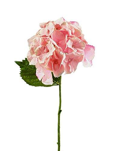 Klocke Kunstpflanzen Deko Blume Hortensie Pink - 3 Stück - Premium Verarbeitung - Dekoblume/Dekohortensie - Länge: 25cm - Kleine Tischblume/Kunstblume - Textilblume/Seidenblume zum Dekorieren