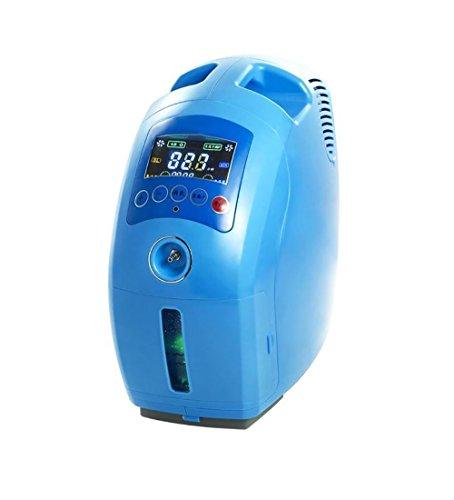 MC Sauerstoffmaschine Sauerstoffkonzentrator - Portable Sauerstoffkonzentrator Luftreiniger Sauerstoff Maschinengenerator Ausgang 2-9L / Min einstellbar - Blau - Home/Auto verfügbar Sauerstoffmaschi 600w Chaos