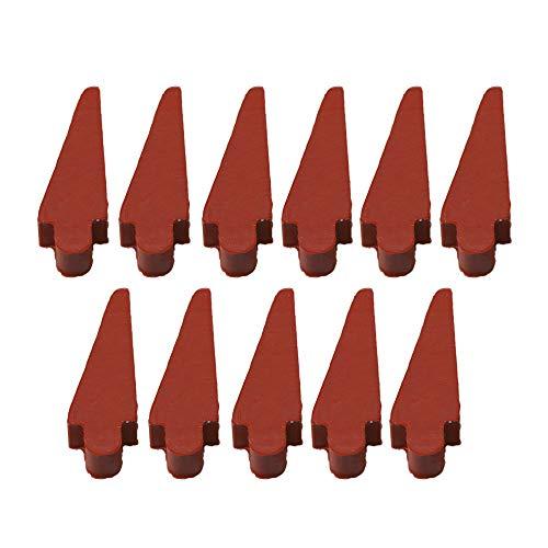 Yibuy - 10 almohadillas de repuesto para flauta de carmesí