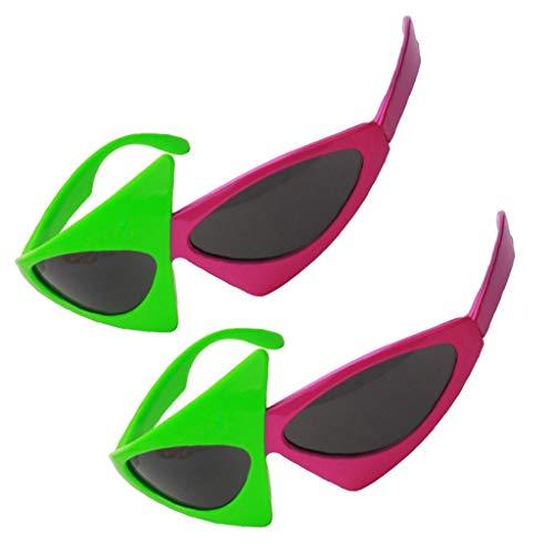 Fenteer 2 Stück Roy Purdy Partybrille Spaßbrille Sonnenbrille Lustige Augen Brille Kostüme Foto Prop