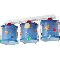 Dalber 41343Planet Ceiling Light, 3Light, Plastic, blue, 20x 15x 20.5cm preiswert