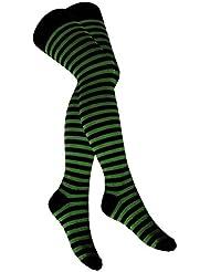 Overknee Socken Grün Geringelt | 283
