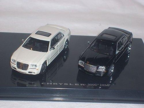 chrysler-300c-300-c-hemi-limousine-schwarz-und-weiss-1-60-1-64-norev-modellauto-modell-auto
