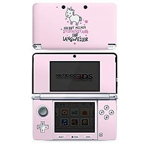 Nintendo 3 DS Case Skin Sticker aus Vinyl-Folie Aufkleber Einhorn Unicorn Sprüche