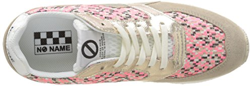 No Name Eden Street, Baskets Basses Femme Beige (Split/Square Ivory/Pink)