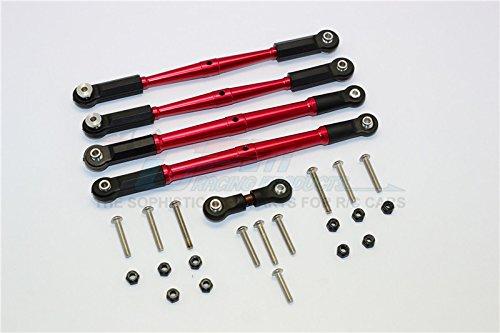 G.P.M. Arrma KRATON 6S BLX/OUTCAST 6S BLX Aluminum Turnbuckles - 5Pcs Set Red