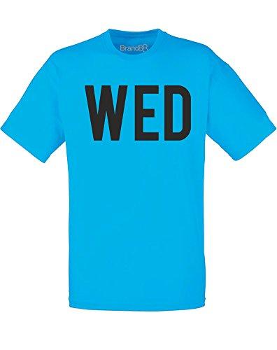 Brand88 - Brand88 - Wednesday, Mann Gedruckt T-Shirt Azurblau/Schwarz
