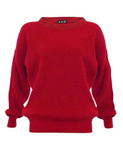 Style Divaa® Maglione da donna, Red