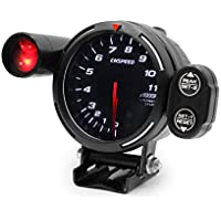 Elenxs 12V dígito Aguja del tacómetro tacómetro del automóvil 0 11000RPM Medidor de Accesorios de Coches