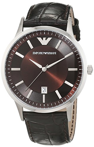 Emporio Armani men's Quartz Watch Analogue Display and Leather Strap AR2413