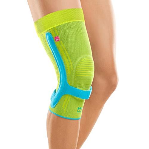 medi Genumedi PSS - Kniebandage unisex | blau/hellgrün | Größe IV | Patellasehnenbandage zur Stabilisierung der Patellasehnenansätze | Beidseitig tragbar