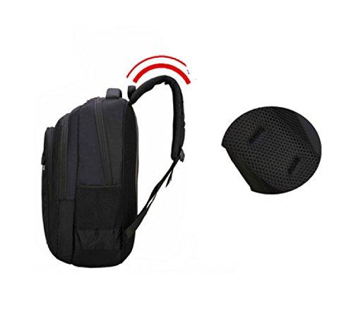 LAIDAYE Außentasche Umhängetasche Bergsteigen Taschen Bulk Taschen Sporttaschen Reisetaschen Rucksäcke Black
