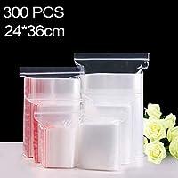 Bolsa de embalaje con cierre automático de cremallera transparente de 24 cm x 36 cm PE 300 PCS, El embalaje conveniente