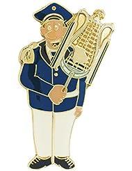 "Musiker ""Larry Lyra"" Lyraspieler, blau, weiß"