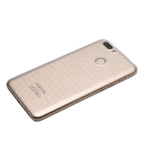 Guran® Hart Plastik Schutzhülle Case Cover für Oukitel U20 Plus Smartphone Hülle Handytasche Etui-transparent weiß