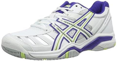 Asics GEL-CHALLENGER 9, Baskets de tennis femme - Blanc - Weiß (WHITE/SHARP GREEN/ROYAL BLUE 0170), 40.5 EU (8 Femme UK) EU