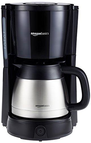 AmazonBasics - Cafetera de goteo (1000 W, 8 tazas, jarra isotérmica 1...