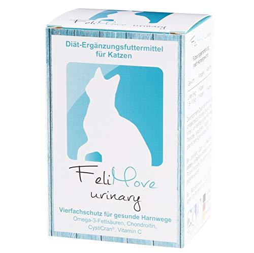 FeliMove 100 Kapseln urinary, Diät-Ergänzungsfuttermittel für Katzen bei Erkrankungen der unteren Harnwege (Fus/FLUTD) mit patentiertem CystiCran (Cranberry-Extrakt), EPA, Chondroitin und Vitamin C -