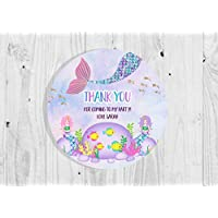 Personalised Mermaid Birthday Party Stickers Thank You Seals - Pack of 35 | Children