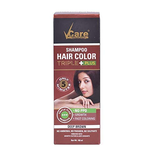Buy Vcare Shampoo Hair Color Triple Plus Brown 180ml Online At Low Prices In India Vcare Shampoo Hair Color Triple Plus Brown 180ml Reviews Ratings Ideakart Com India