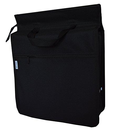 FAHRRADTASCHE Erwachsene Satteltasche Gepäckträgetasche Doppel 2x15l / Einzelne 1x15l 33. Uno - Schwarz