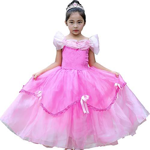 Prinzessin Belle Aurora Aschenputtel-Kostüm für kleine Mädchen und Kleinkinder, rosa
