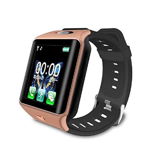 HTTXSBL Sportuhr Fitness Tracker Herzfrequenzerkennung Farbdisplay Bewegung Echtzeitüberwachung IP67 wasserdicht Noir d'or