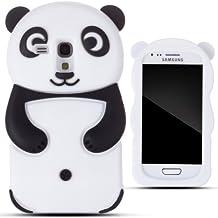 Zooky® Noir panda silicone Coque / Étui / Cover pour Samsung Galaxy S3 MINI (I8190)