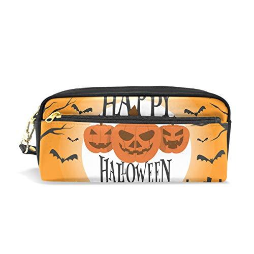 Federmäppchen, Halloween, Kürbisschläger, für die Schule, für Kinder, große Kapazität, Make-up, Kosmetikboxen, Büro, Reisetasche (Die Halloween-make-up Für Schule)