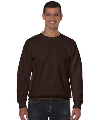 Gildan Heavy Blend Erwachsenen Kapuzen-Sweatshirt 18500, Dark Chocolate, M (Sweatshirt Kinder Gildan)