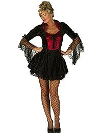 MIXLOT Frauen Sexy Erwachsene Fräulein Dracula Halloween Kostüm Scary Creepy Fancy Kleid Größe S-XL