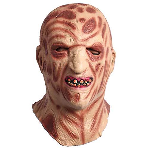 s Gesicht durch Feuer, Halloween-gruselige Zombie-Latexmaske für Karnevalsparty, Horror-Themenbar, Spukhausdekoration, Cosplay ()