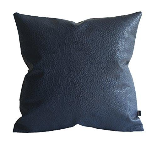 Kdays Amortiguador sólido imitación cuero elefante almohada cubierta Throw Pillow Almohada sólida cubierta cubierta 16 x 16 pulgadas Azul