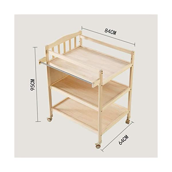 Diaper station Changing table with shelves Solid wood Baby care table Changing table linen Changing unit Nursery organizer for children girls baby baby toddler DSJMUY ★ Table material to change diapers: pine wood. ★ Changing the stable construction of the diaper station: all our products are designed with the safety of your children in mind. ★ Change the pad 2 in 1 Desigh: the changing table can also be used as a massage table for babies.It offers comfort and practicality.It is designed at the appropriate height of the parents to prevent the pains of Mother's back and pains kneel or bend when changing diapers to babies. It has open shelves that add extra security. 2