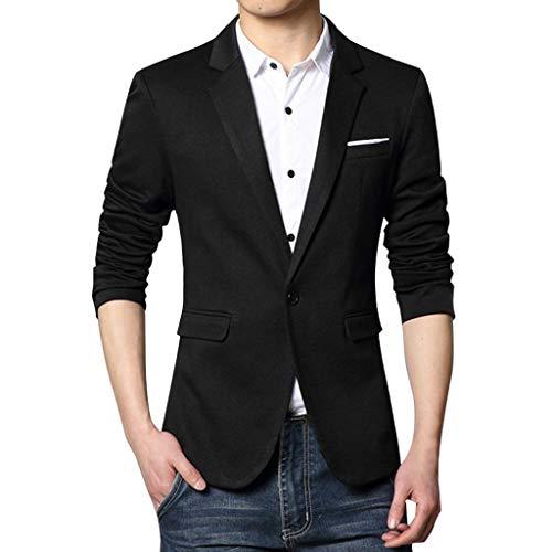 Freizeit Herren Anzug Einfarbig Slim Fit Anzugjacke Sakko, Trend Hochwertig Business Blazer Anzug, Klassisch Jacke Trenchcoat mit Knopf Bequem Männer Smoking Blazer für Hochzeit Party -
