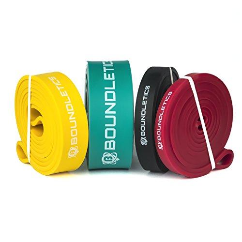 Der mehrfache Testsieger: Resistance Band mit gedruckter Anleitung - Fitnessband für Crossfit und Calisthenics - Klimmzugband / Widerstandsband in verschiedenen Stärken zum effektiven Muskeltraining