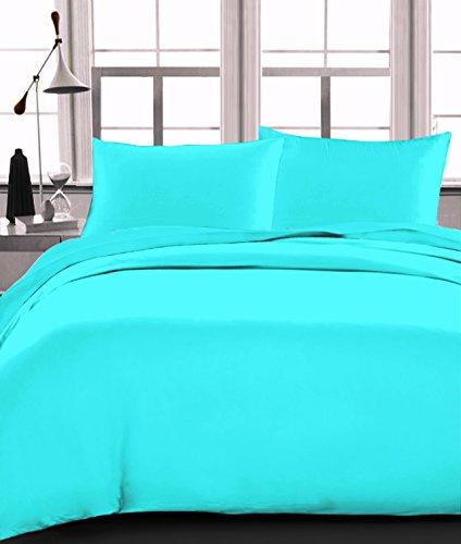 Trance Home Linen 100% Premium Cotton 300TC Plain Satin Duvet Cover with...