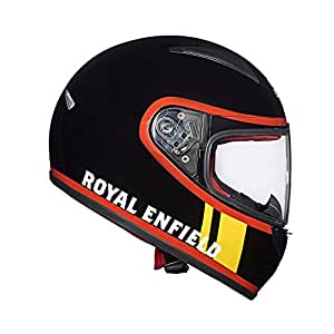 Royal Enfield Gloss Black Full Face With Visor Helmet Size (M)58 CM (RRGHEJ000016)