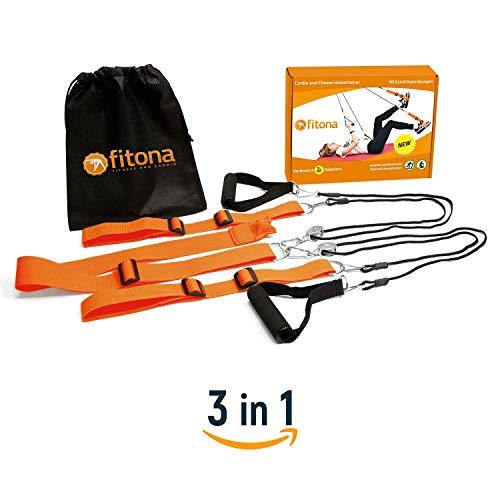 fitona Multitrainer - Stretching und Reha Hometrainer - Trainer für zu Hause und unterwegs - Fitnessgerät für effektives Abnehmen - sportliche Hilfe bei Rehabilitation - inkl. Tragetasche