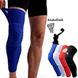 1pc Honeycomb Safety Elastic Knee Brace Support Sports Gym Compression Socks Protector Knee Pad