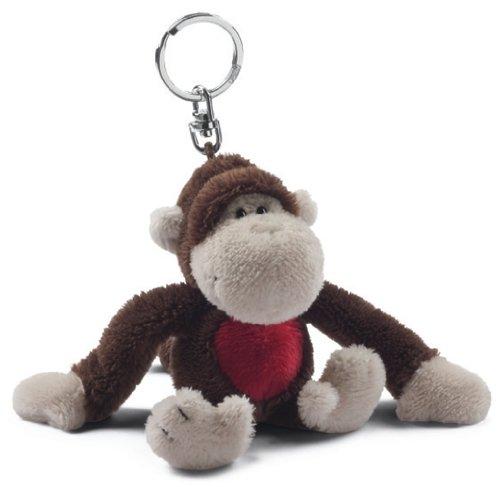 Nici 29610 - Affe Lou Bean Bag Schlüssel-Anhänger 10 cm