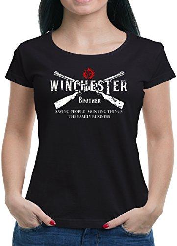 TLM Winchester Bros 2 Guns T-Shirt Damen XXL (Kostüme 2 Den Bros Für Halloween)