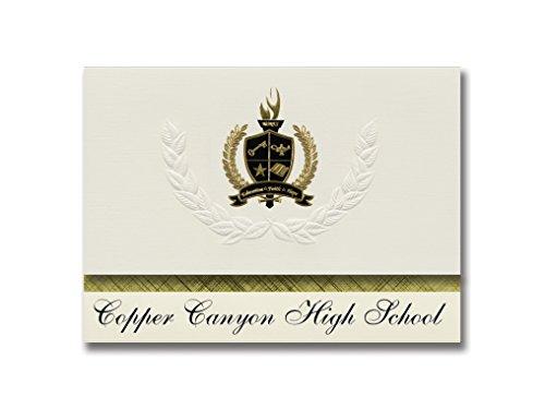 Signature Ankündigungen Graduation Ankündigungen, Presidential Stil, Elite Paket 25Stück mit Gold & Schwarz Metallic Folie Dichtung Copper Canyon High School (Glendale, AZ) 6.25