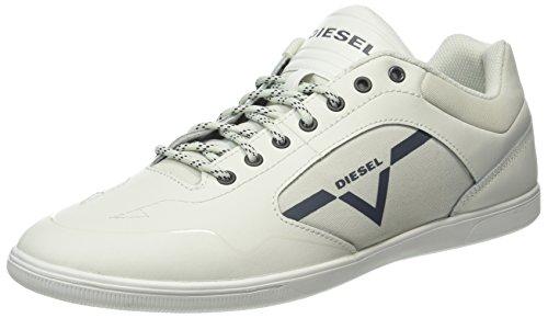 Diesel Herren Happy Hours S-Aarrow Sneaker, Weiß (Ice), 44 EU (Diesel Schuhe Sneakers)