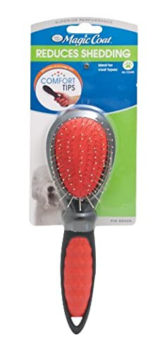 Four Paws Magic Coat Dog Grooming Pin Brush Large Reduces Shedding Comfort Tips