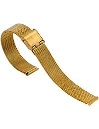banda encantador pequeño de 8 mm de malla de metal reloj con gancho de la hebilla