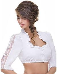 ALMBOCK Dirndlbluse weiß und schwarz | Dirndl-Blusen in vielen verschiedenen Modellen | Gr. 34-44