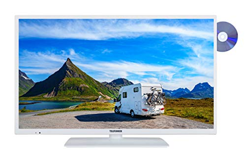 Telefunken XH24E401VD-W 61 cm (24 Zoll) Fernseher (HD ready, Smart TV, Triple Tuner, DVD-Player) weiß
