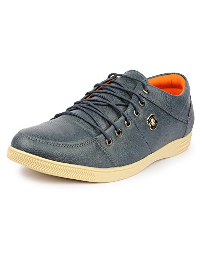 Pede Milan ASD 020 Synthetic Leather Casual shoes for Men (7 UK, Blue)